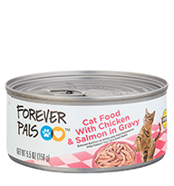 Forever Pals Cat Food with Chicken and Salmon in Gravy